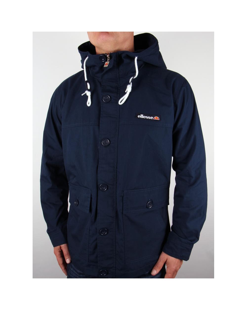 ellesse rallidae 2 jacket navy heritage rallidae coat mens. Black Bedroom Furniture Sets. Home Design Ideas