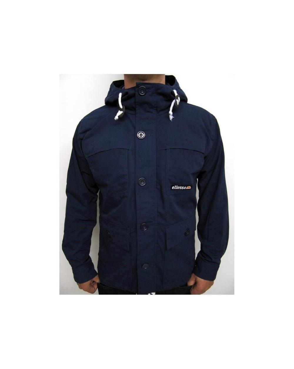 ellesse rallidae jacket navy ellesse heritage rallidae coat. Black Bedroom Furniture Sets. Home Design Ideas