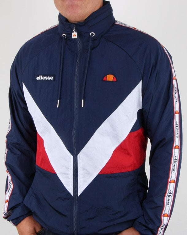 Ellesse Retro Shell Track Jacket Navy