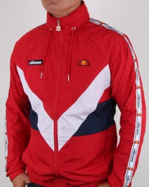 Ellesse Retro Shell Track Jacket Red