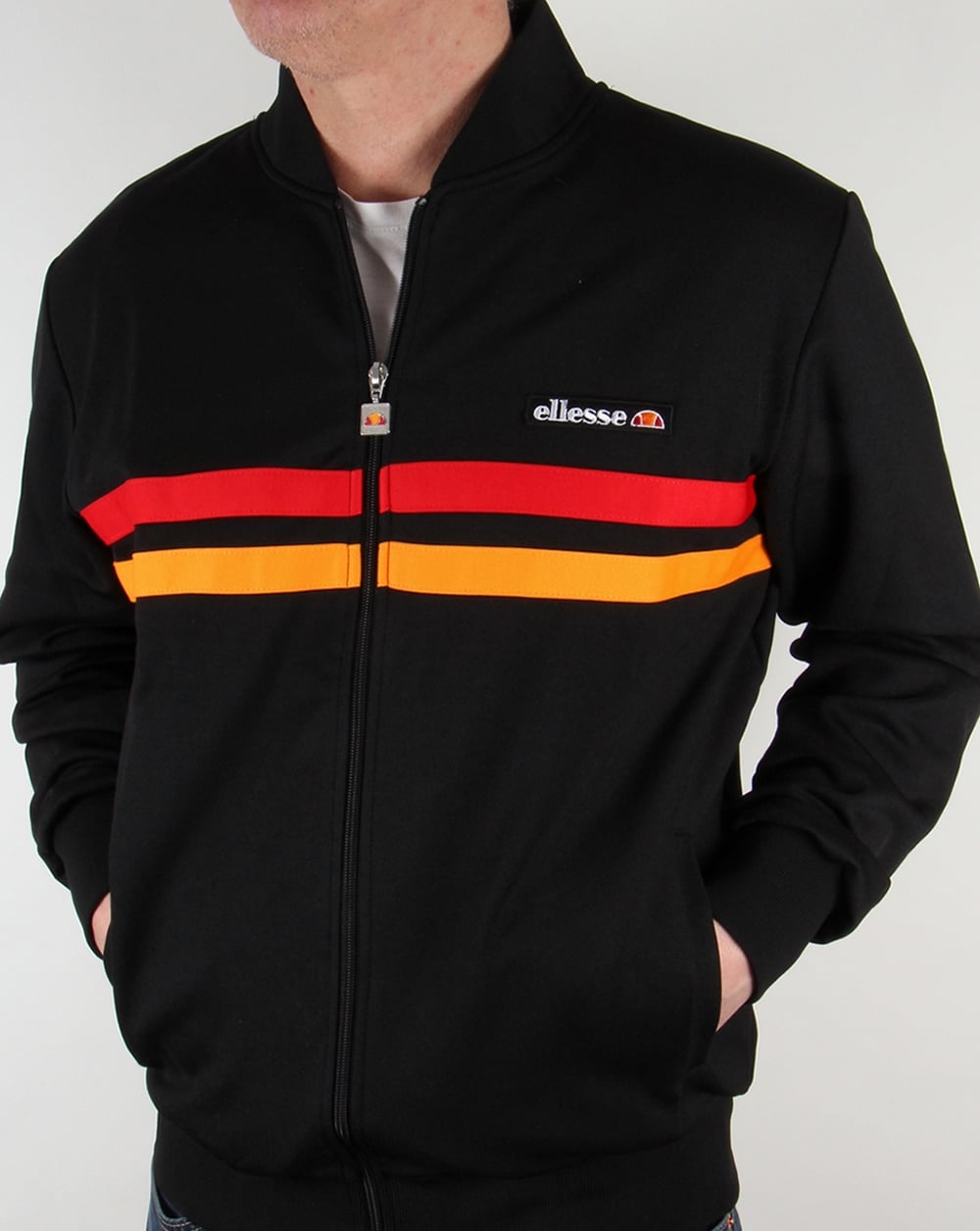 b1ed921ce384 Ellesse Rimini 2 Track Top Black/red/orange,tracksuit,jacket,mens