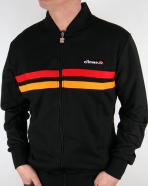 Ellesse Rimini 2 Track Top Black/red/orange
