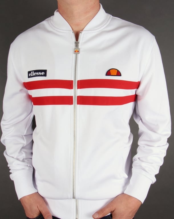 Ellesse Rimini 2 Track Top White/Red