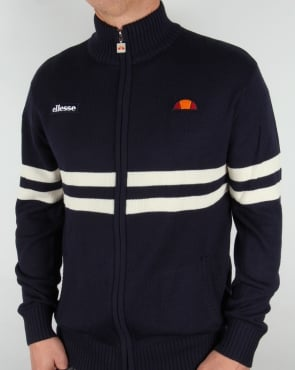 Ellesse Rimini Full Zip Knit Navy