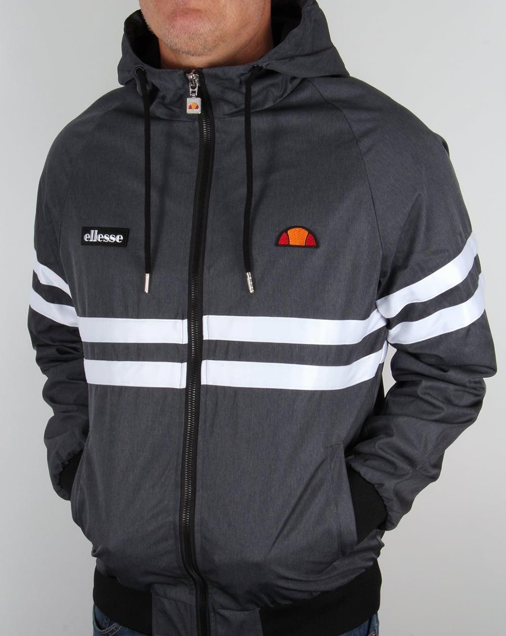 ellesse siata hooded track top navy marl men 39 s jacket top. Black Bedroom Furniture Sets. Home Design Ideas