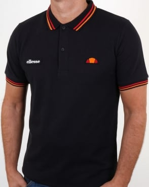 Ellesse Rimini Tipped Polo Shirt Black