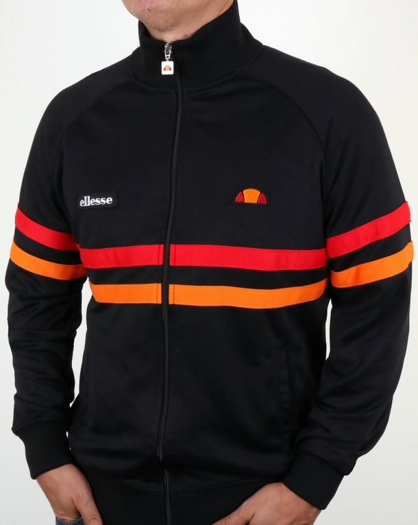 Ellesse Rimini Track Top Black/Orange