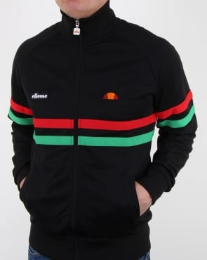 Ellesse Rimini Track Top Black/red/green