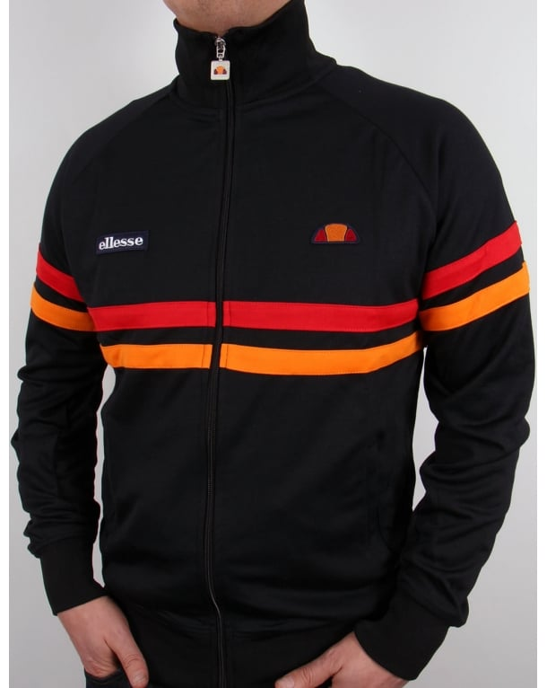 Ellesse Rimini Track Top Black/Red/Orange