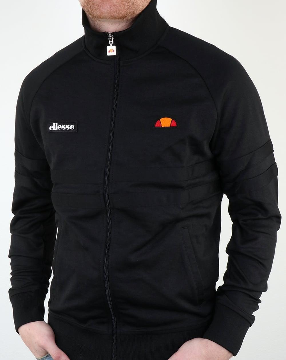 Ellesse Rimini Track Top Black Black Tracksuit Jacket Mens