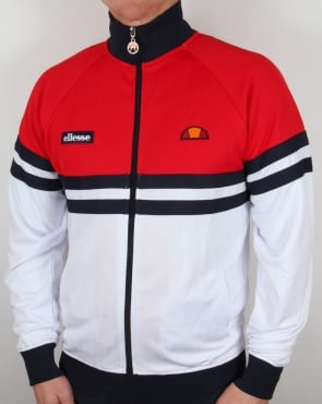 Ellesse Rimini Track Top Red/White/Navy