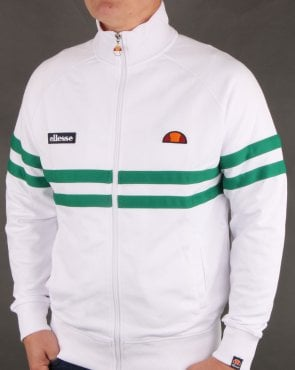 Ellesse Rimini Track Top White/Green