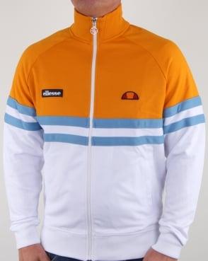 Ellesse Rimini Track Top White/Orange/Sky