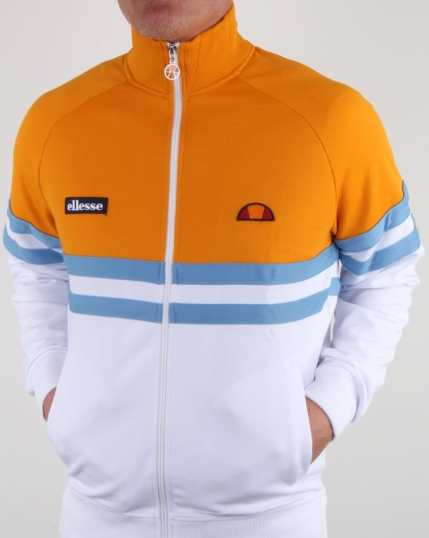 Ellesse Rimini Track Top White/Orange/Sky