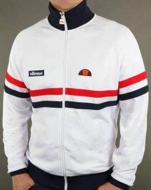 Ellesse Rimini Track Top White/Red/Navy