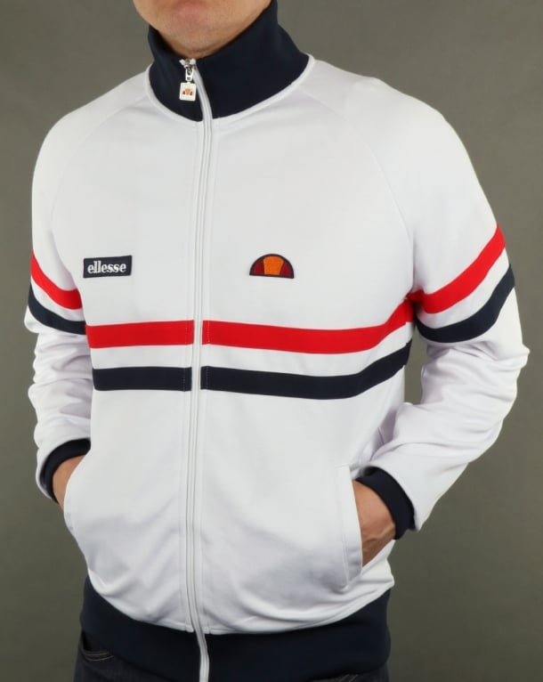 Ellesse Rimini Track Top White/red/navy