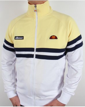 Ellesse Rimini Track Top White/Yellow