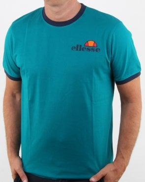 Ellesse Ringer T Shirt Fanfair Green