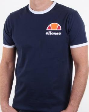 Ellesse Ringer T Shirt Navy