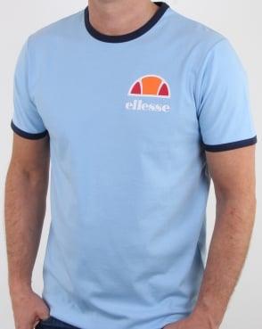 Ellesse Ringer T Shirt Sky Blue