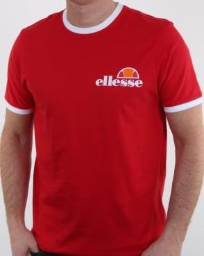 Ellesse Ringer T Shirt True Red