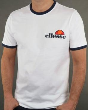 Ellesse Ringer T Shirt White