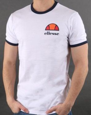 3807677f62 Ellesse Ringer T Shirt White