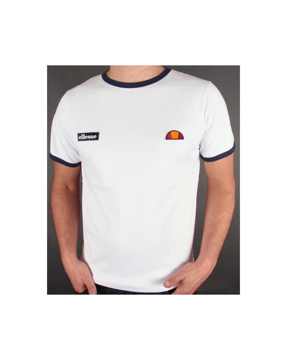 fc3ab5a3 Ellesse Ringer T-shirt White - varetto ringer tee