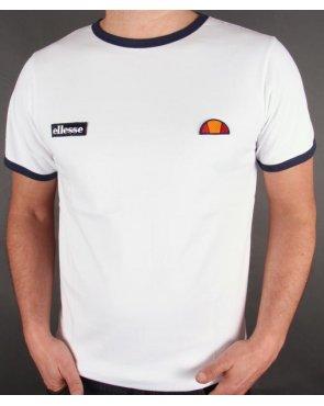 Ellesse Ringer T-shirt White