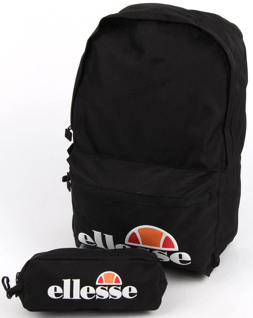 ac9042b341 Ellesse Rolby Backpack  amp  Pencil Case Black