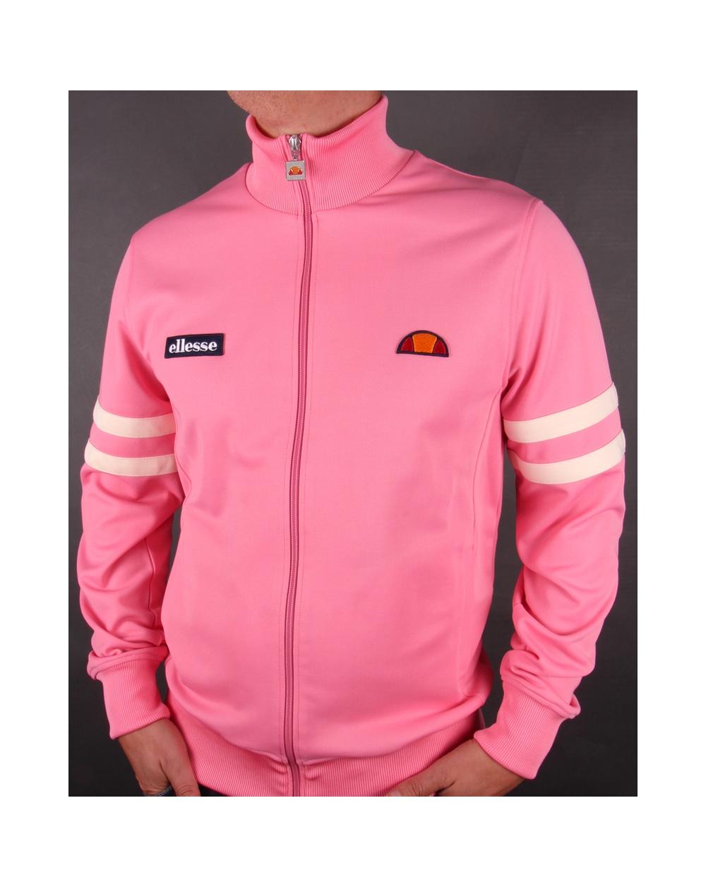 Ellesse Roma 2 Track Top Pink Tracksuit Jacket Exclusive Mens