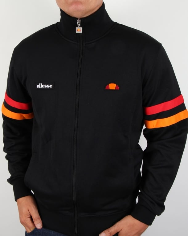 Ellesse Roma Track Top Black/Red/Orange