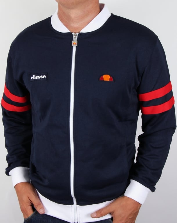 Ellesse Roma Track Top Navy white red