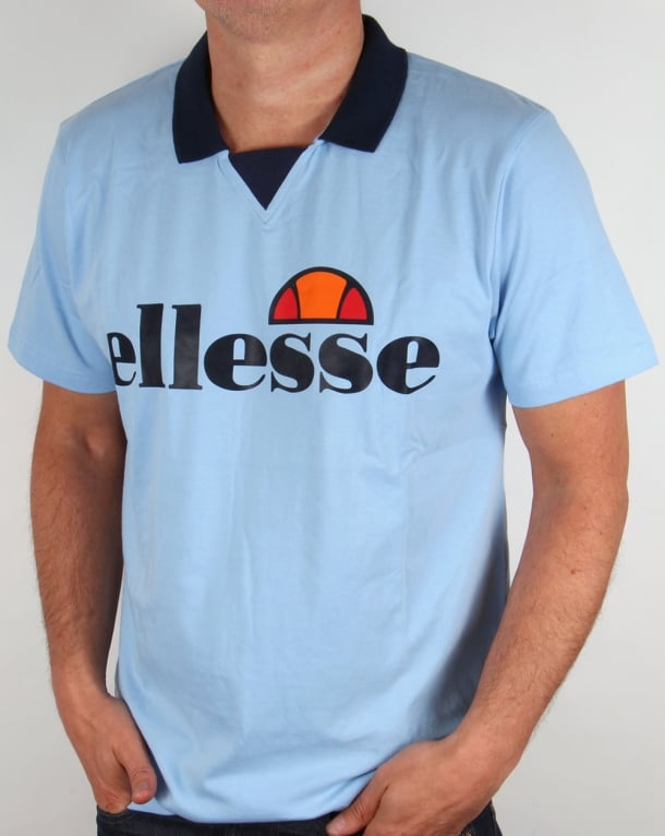 Ellesse Sarzana Old Skool Polo Sky Blue