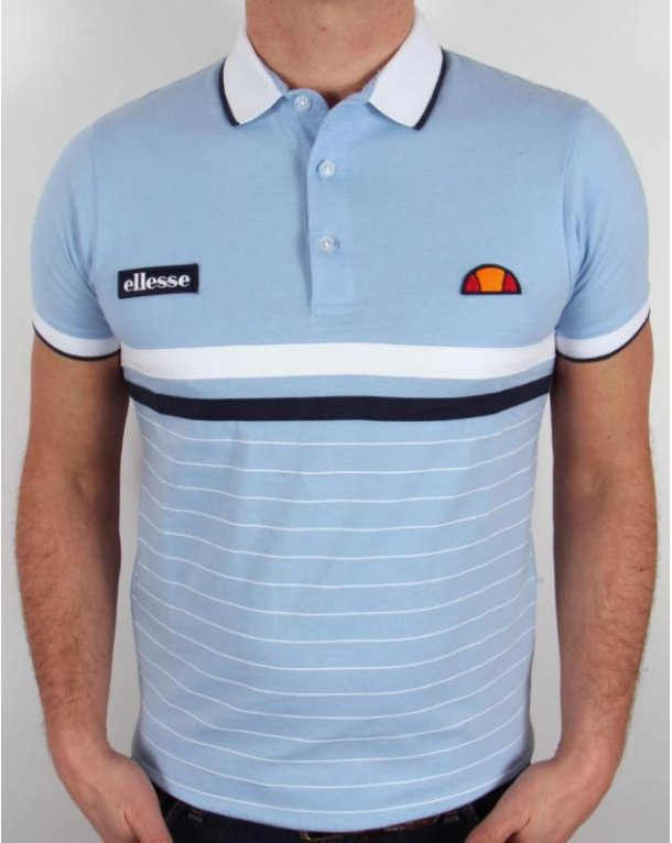 Ellesse Seppi Polo Shirt Sky Blue