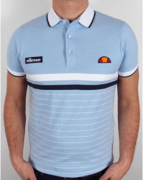 Ellesse Seppi Polo Shirt Sky Blue