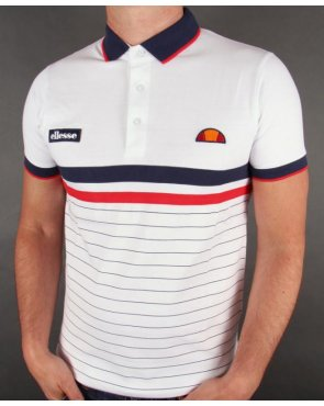 Ellesse Seppi Polo Shirt White