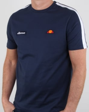 Ellesse Shoulder stripe T Shirt Navy