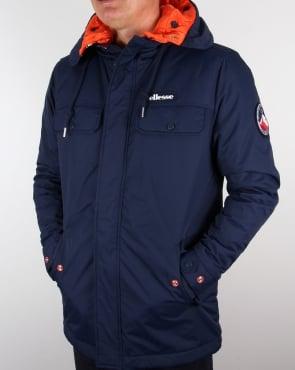 Ellesse Ski Style Parka Jacket Navy