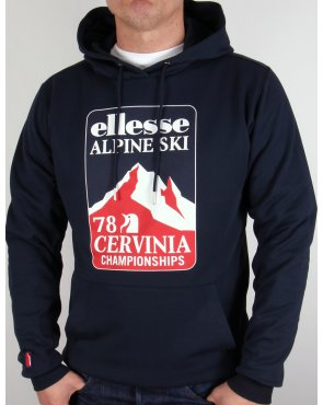 Ellesse Ski Sweat Hoody Navy Blue