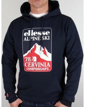 Ellesse Ski Sweat Hoody Navy Blue