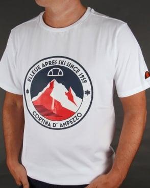 Ellesse Ski-Time T-shirt White