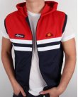 Ellesse Sleeveless Hooded Rimini Top Navy/Red