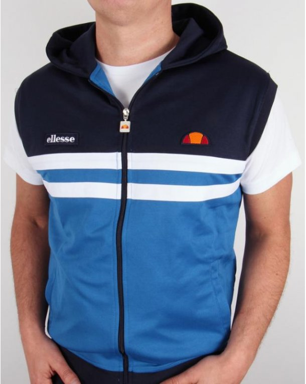 Ellesse Sleeveless Hooded Rimini Top Navy/royal
