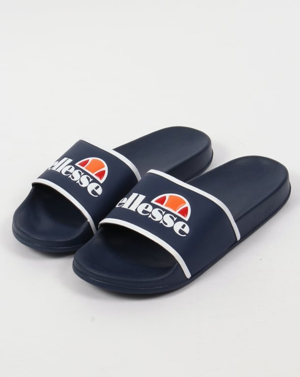 Ellesse Sliders Navy/White