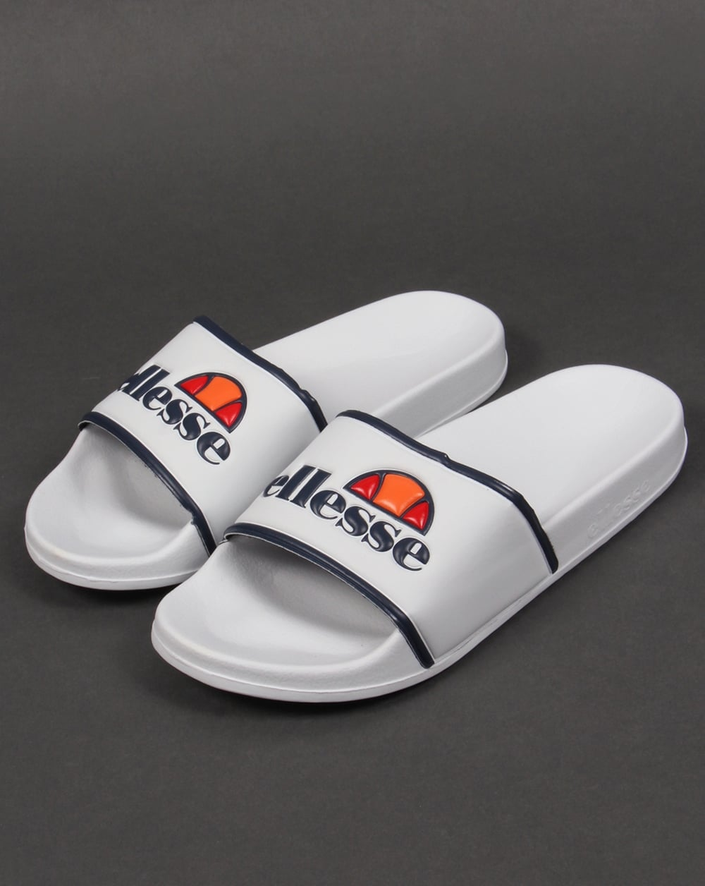 Ellesse Sliders White/Navy,sandals,pool,flip flops