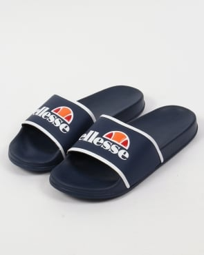 Ellesse Slides Navy/White