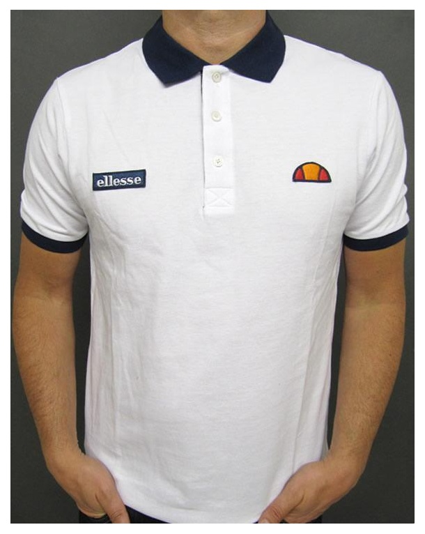 Ellesse Sorrento Polo Shirt White