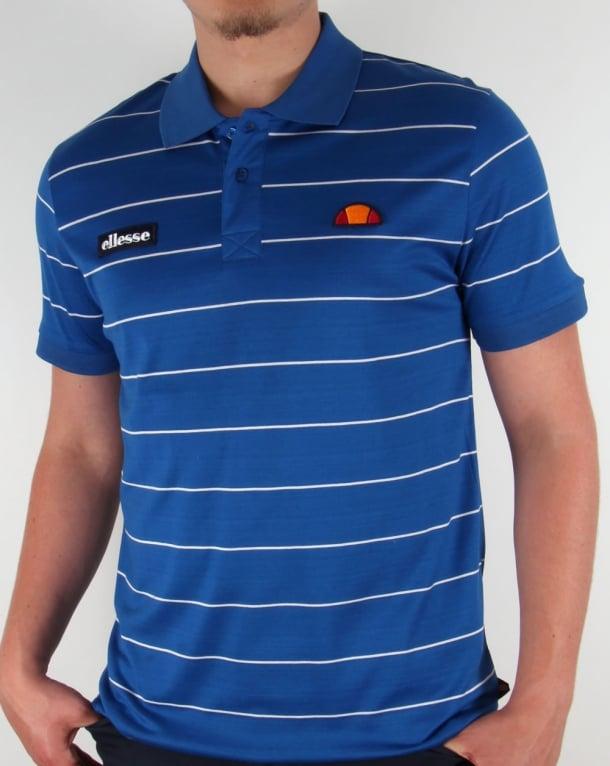Ellesse Sovana Polo Shirt Royal Blue