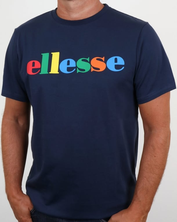 Ellesse Spectrum Logo T Shirt Navy